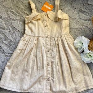 GYMBOREE toddler sleeveless cream dress Embroidery